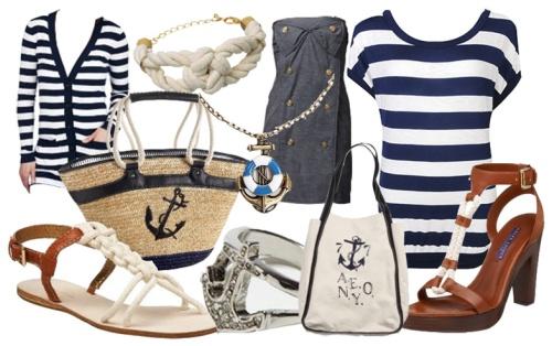Морской стиль в пляжной моде 2015
