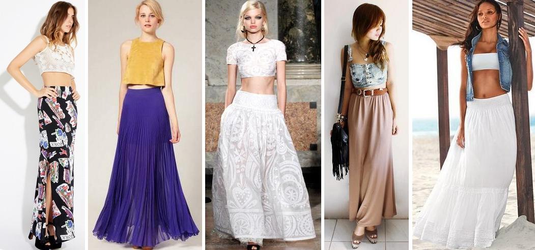 Летние широкие юбки длинные